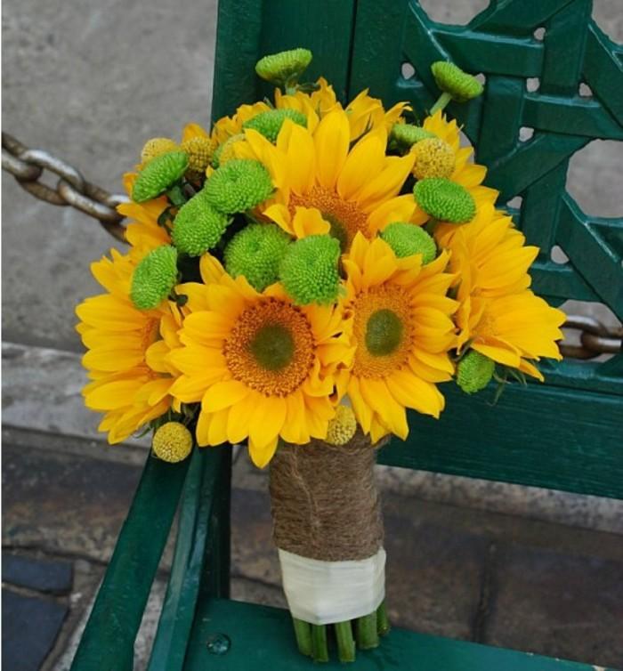 向日葵手捧花打造阳光婚礼