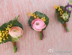 新娘鲜花胸花DIY制作