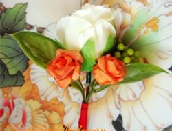 婚礼仿真胸花 假花也漂亮