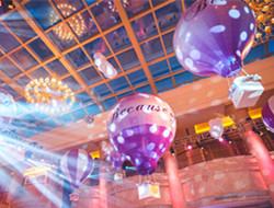 室内热气球婚礼现场图片