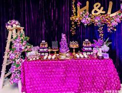浪漫紫色室内婚礼 大气神秘婚礼现场