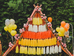 柠檬色清新婚礼现场 室内温暖色