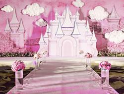 粉红城堡婚礼 满足新娘少女心