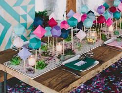 个性几何主题婚礼现场布置