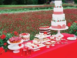 草莓主题婚礼现场布置