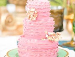 婚礼上的清新蛋糕图片