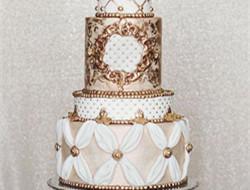 贵族神韵 金色婚礼蛋糕