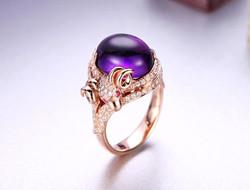 托帕石钻石婚戒 做永远的公主