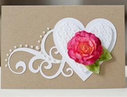 充满爱意的花朵婚礼请柬