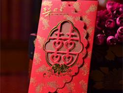 复古大红中式婚礼请柬