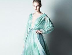 仙气肆意的柔和色调礼服