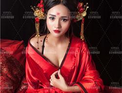 虞美人 红色古装女子写真