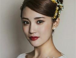 新娘优雅盘发发型图片