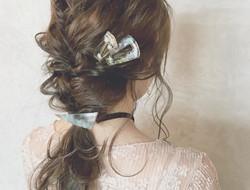 凌乱新娘编发发型