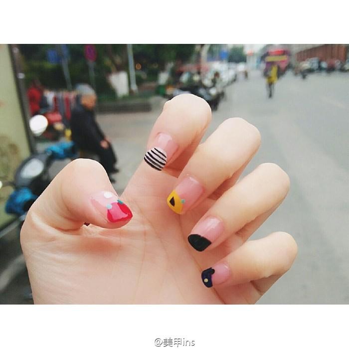 韩风创意彩绘美甲