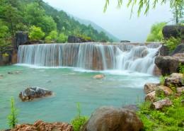 云南丽江玉龙雪山蓝月谷自然风景图片(11张)