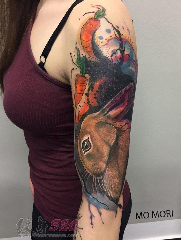 多款关于兔子的创意个性文艺小清新唯美纹身图案