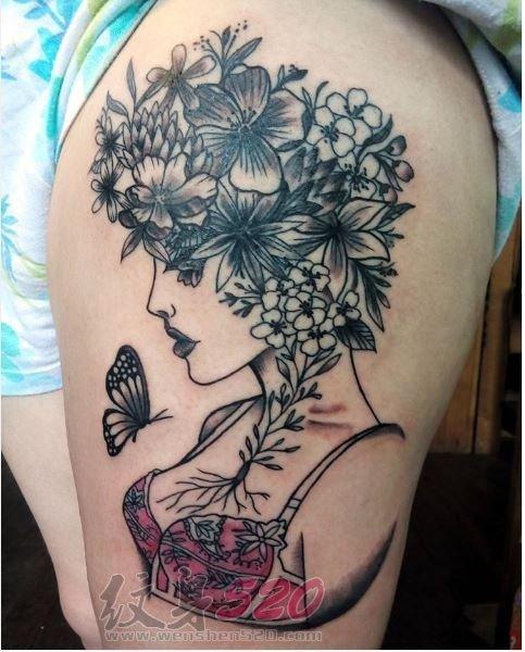 多款关于花朵的创意个性文艺小清新唯美纹身图案