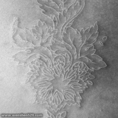 白色线条隐形创意个性唯美文艺小清新纹身图案