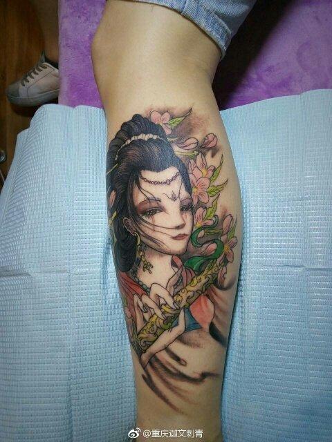 艺伎纹身,彩色纹身,重庆迦文刺青,重庆纹身,重庆刺青,江北纹身,沙坪坝纹身,解放碑纹身