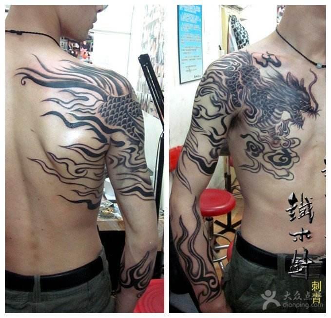 求这个过肩龙图的纹身手稿,谢谢