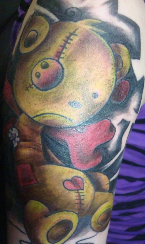 手臂僵尸玩具纹身图案