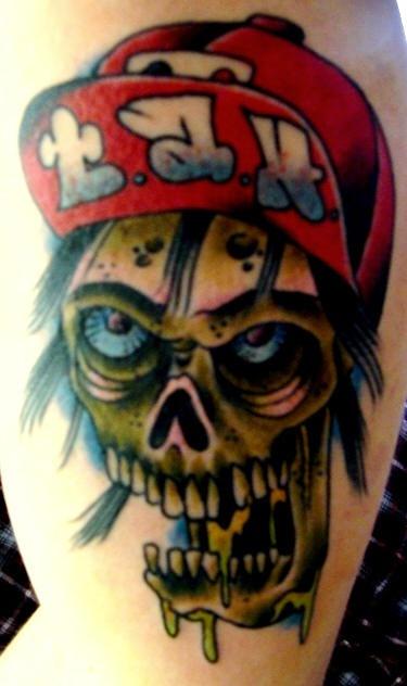 可怕的僵尸男孩纹身图案