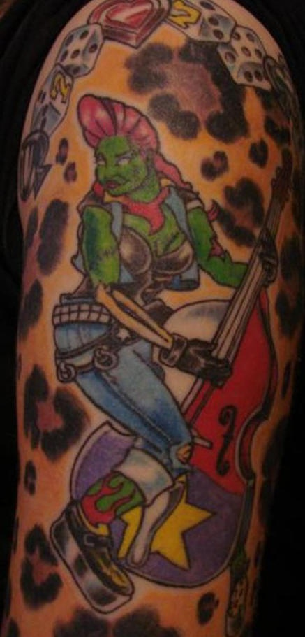 僵尸乐队的纹身