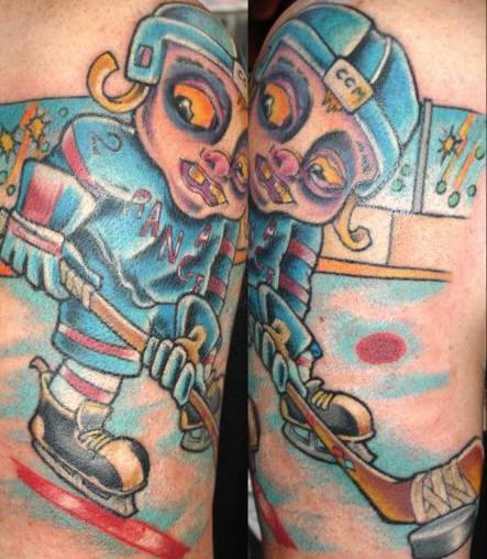 僵尸大战的纹身
