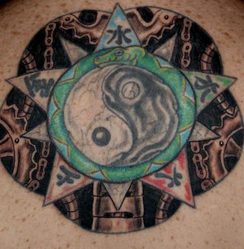 八卦文字纹身