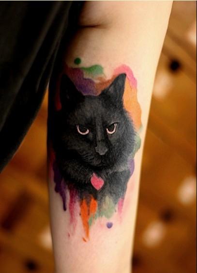 个性动物头像纹身