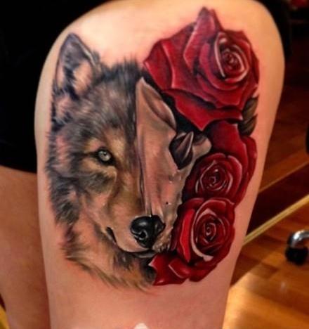 精美艺术动物纹身