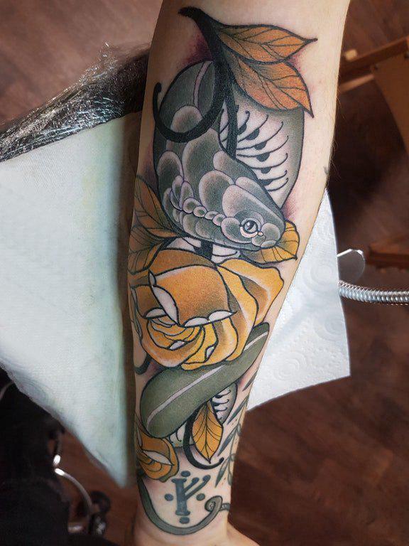 小动物纹身 女生手臂上小动物纹身图片