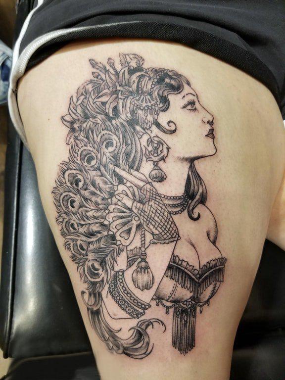女生女生人物乐园纹身女生上大腿女生图案网名图案人物纹身q友图片