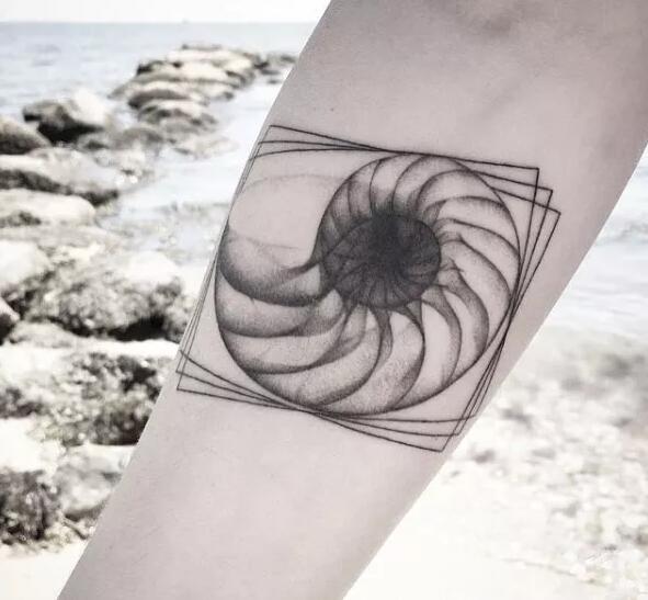多款创意的贝壳个性纹身图案