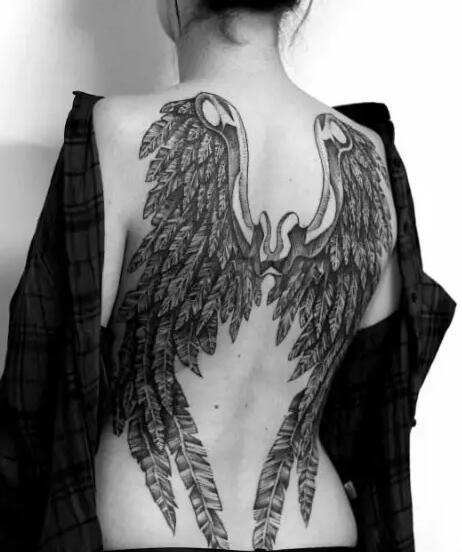多款帅气的翅膀纹身图案