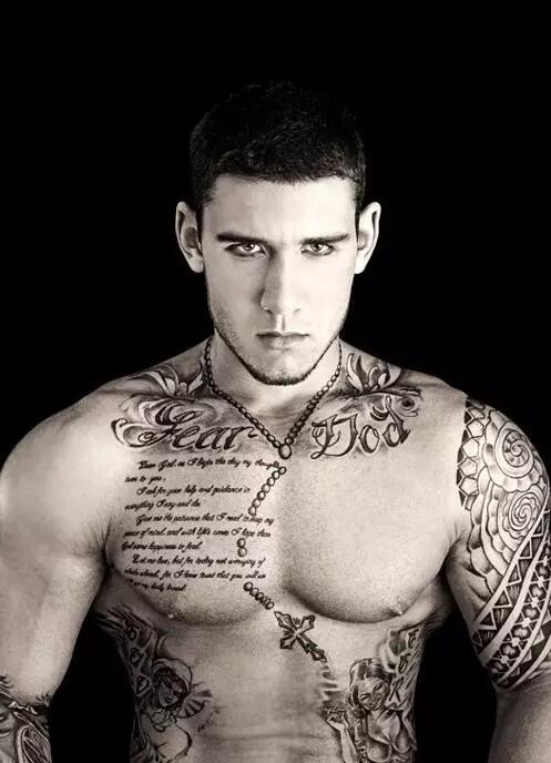 帅哥霸气个性的纹身图案