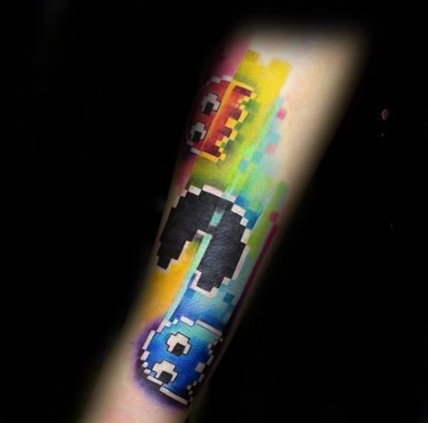像素风格纹身    别具特色的像素风格纹身图案
