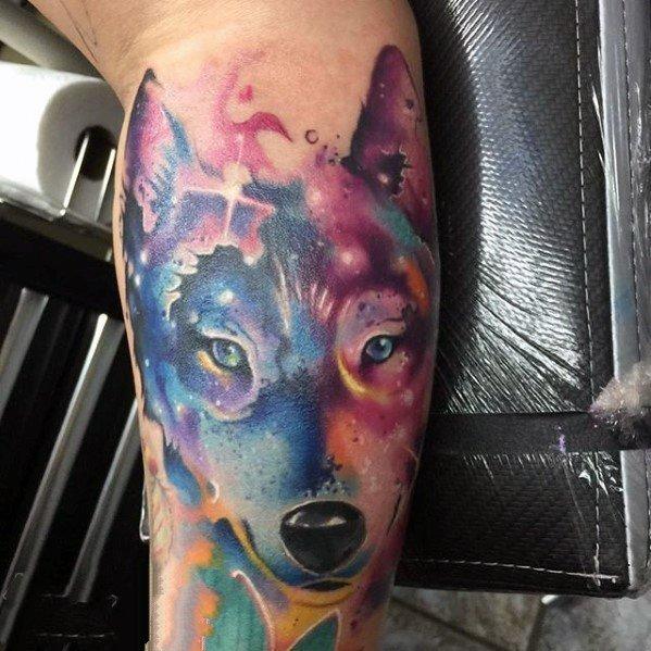 狼的纹身图片   凶残狡狎的狼纹身图案