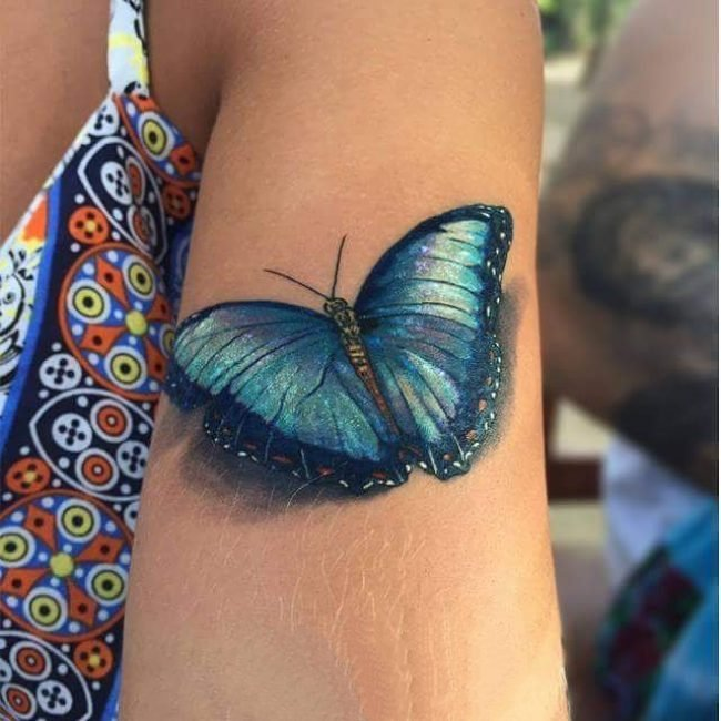 蝴蝶纹身图片   美感十足的蝴蝶纹身图案