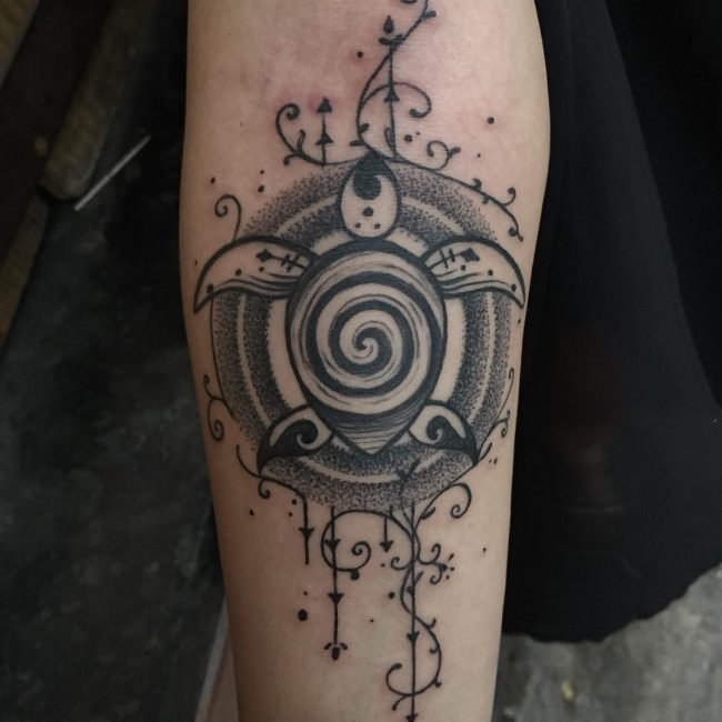 乌龟纹身图案   多款时尚的乌龟纹身图案