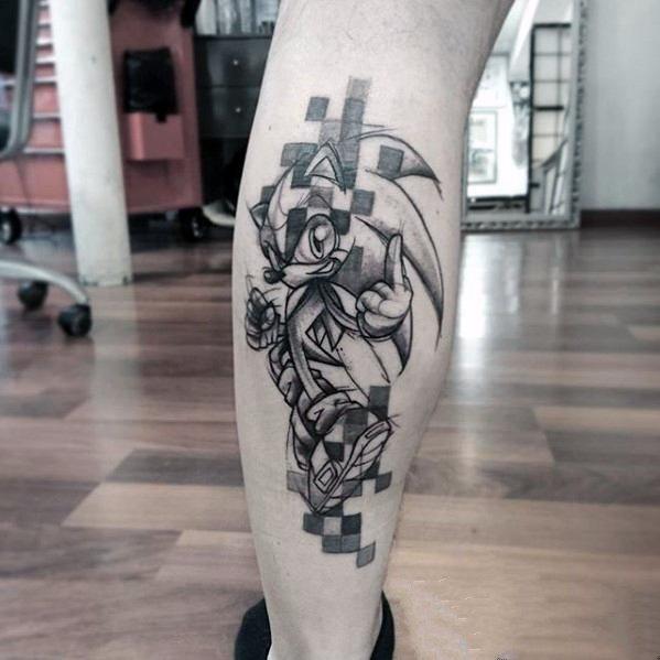 像素风格纹身  充满趣味性的像素风格纹身图案