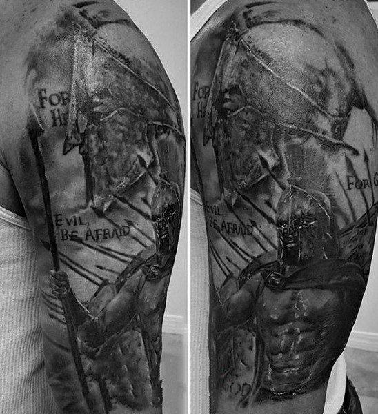 铁血战士纹身   凛然伟岸的铁血战士纹身图案
