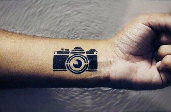 纹身相机   记录生活的相机纹身图案