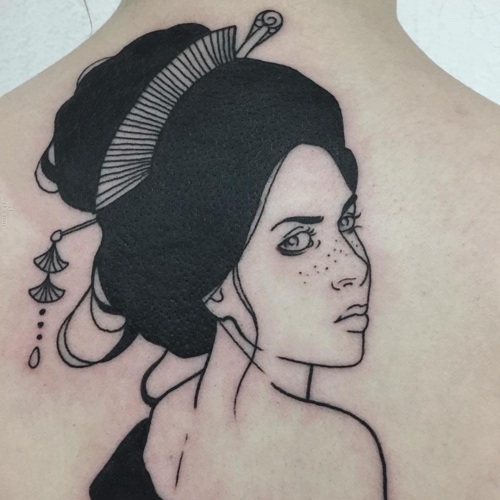 女生人物纹身图案   设计别样的人物纹身图案