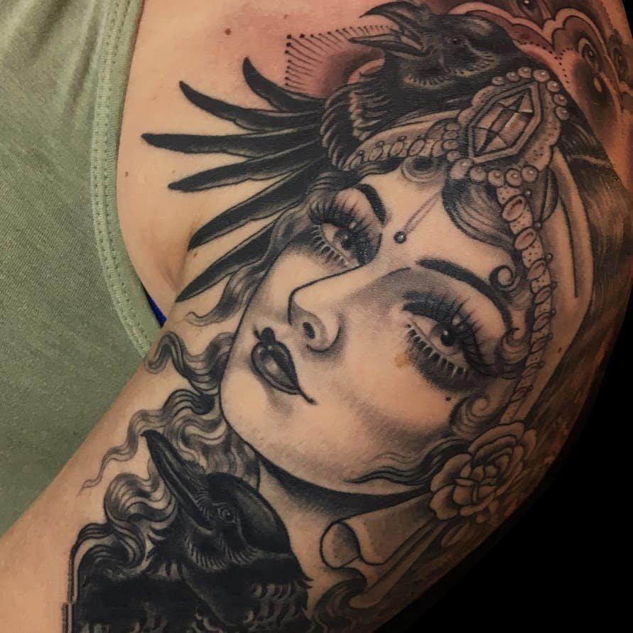 纹身人物图片   设计感十足的人物纹身图案