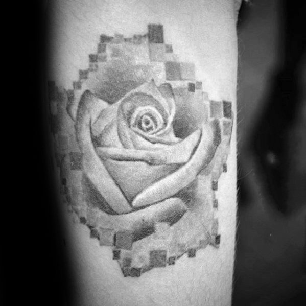 像素风格纹身   时尚而又别致的像素风格纹身图案