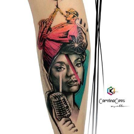 9张优秀彩色欧美纹身肖像作品纹身图案