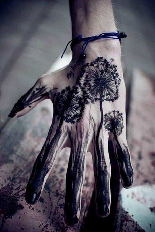手部纹身图   创意十足的手部纹身图案
