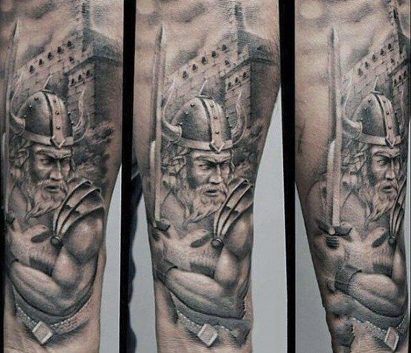 铁血战士纹身   气宇轩昂的铁血战士纹身图案